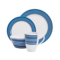16 Piece Melamine Dinner Set - Nautical