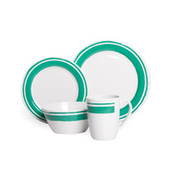 16 Piece Melamine Dinner Set - Ocean Spray