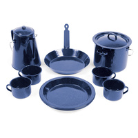 11 Piece Enamel Cookware Set